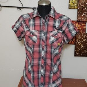Nwot small harley davidson button down